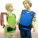 通学時の安全のために 着衣の上または下に着用可スクール安全ベスト(キッズタイプ)NS-1型