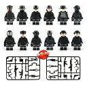 ブロック ミニフイグ SWAT12体 武器とボートセット ブロック互換品 プレゼント 入学プレゼント 入学お祝い クリスマスプレゼント 知育..