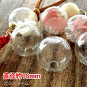 ショッピング最安値 楽天最安値にチャレンジ!!【10個】ガラスドーム(直径約18mm)