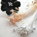 ショッピングコサージュ 【30本】ペップ・むぎ・両付・花芯(ホワイト・ピンク)*