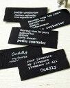 ショッピングライター ポリエステルタグ【ブラック】テキスト・タイプライター・cuddly・petite couturier