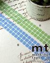 ショッピングマスキングテープ マスキングテープ(手芸・資材・パーツ)【三枡格子・草/藍】