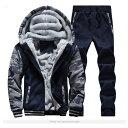 メンズ 裏シャギー 迷彩柄 パーカー パンツ 上下セット ジップアップ 裏起毛 あったか 防寒 ジャージ スウェット スポーツ アウター 着る毛布