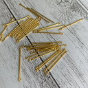 (20個)バーパーツ 30mm 両カン ゴールド 金 メタルパーツ ジョイントパーツ コネクターバー つなぐ棒 アクセサリー用 アクセサリーパーツ ハッピークラフト/HAPPYCRAFT
