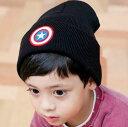 ☆冬小物 子供ニット帽☆ シンプルニット帽 ワッペン スター 星 子供用帽子 ニット帽 キッズ 帽子 子供用帽子 こどもニット帽子