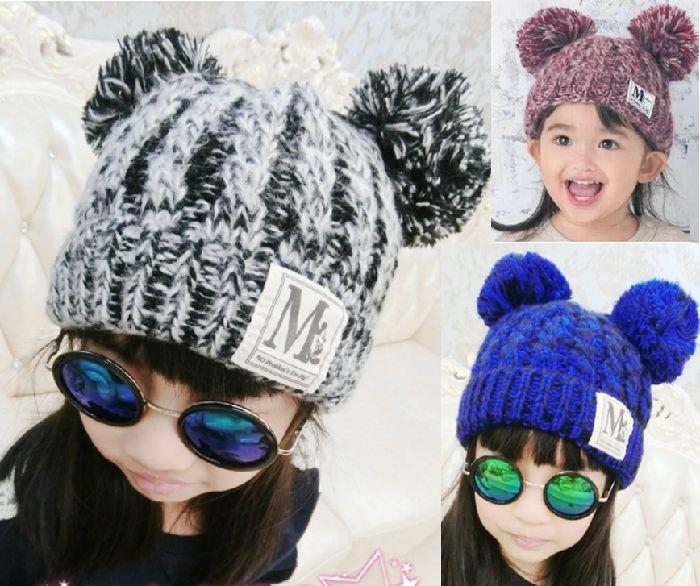 期間限定・値引き冬小物子供ニット帽子供用帽子ニット帽ボンボンキッズ帽子子供ニット帽子こどもニット帽子