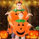 【3点セット】ハロウィン かぼちゃのおばけ 衣装 仮装 コスチューム 男女兼用 男の子 女の子 イベント パーティー レディース 【帽子・バッグ付き】