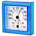 【ポイント20倍】クレセル 温湿度計 壁掛け・卓上用 ブルー CR-12B