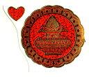 ヒンズーの吉祥壷のキラキラ波状ステッカー! /エスニック/アジアン雑貨(ポスト投函配送選択可能です)