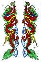 タイの珍しい巨大ステッカーその13/エスニック/アジアン雑貨/飛龍の魔よけステッカーレッド(ポスト投函配送選択可能です)