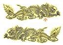 飛龍の魔よけステッカーゴールドSサイズ! /エスニック/アジアン雑貨(ポスト投函配送選択可能です)