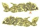 飛龍の魔よけステッカーゴールドLサイズ! /エスニック/アジアン雑貨(ポスト投函配送選択可能です)