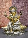 インドの神様ガネーシャの置物 メタル製の大きなガネーシャです!(No.17)もちろん重量もヘビー級!/エスニック/アジアン雑貨