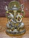 インドの神様ガネーシャの置物 メタル製のやや大きなガネーシャです!(No.22)重量はライトヘビー級!/エスニック/アジアン雑貨