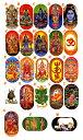 インドの神様両面楕円ステッカー!全23種類! /エスニック/アジアン雑貨(ポスト投函配送選択可能です)