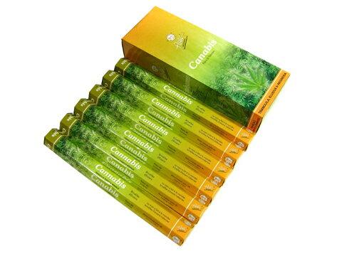 お香 カナビス香 スティック /FLUTE CANNABIS/インセンス/インド香/アジアン雑貨(6箱セット!ポスト投函配送選択可能です/送料1通分が掛かります)