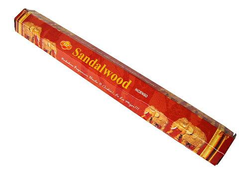 お香 サンダルウッド香 スティック /SAC SANDALWOOD/インセンス/インド香/アジアン雑貨(ポスト投函配送選択可能です/6箱毎に送料1通分が掛かります)