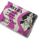 お香 ミーラ香(LILY OF THE VALLEYリリーオブザバレー) コーンタイプ /MEERA/インセンス/インド香/アジアン雑貨(ポスト投函配送選択可能です/6箱毎に送料1通分が掛かります)