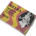 お香 ミーラ香(ROSEローズ) コーンタイプ /MEERA/インセンス/インド香/アジアン雑貨(ポスト投函配送選択可能です/6箱毎に送料1通分が掛かります)