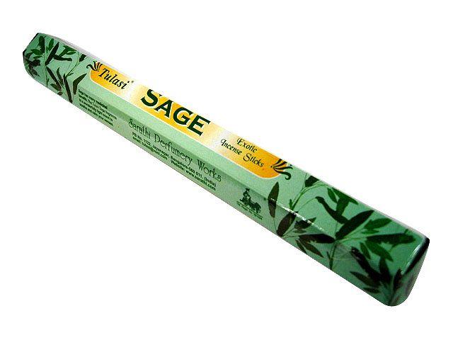 お香 セージ香 スティック /TULASI SAGE/インセンス/インド香/アジアン雑貨(ポスト投函配送選択可能です/6箱毎に送料1通分が掛かります)