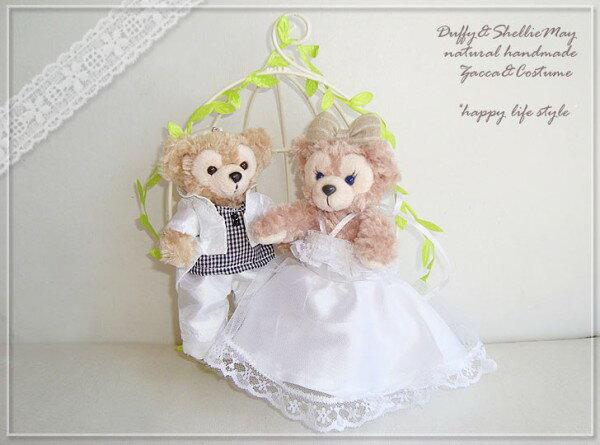 【誕生日】【結婚祝い】【母の日】贈り物に♪鳥かごの中のダッフィー&シェリーメイ【グッズ】*gift-20
