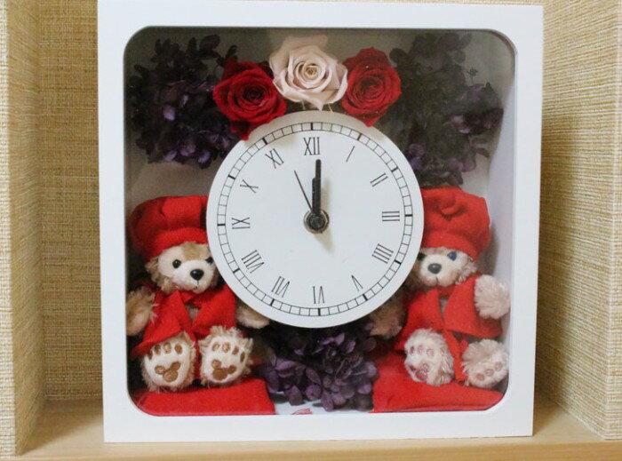 【送料無料】【還暦祝い】贈り物に♪ちゃんちゃんこダッフィーと花時計【グッズ】*gift-29