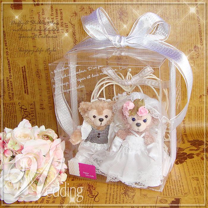 【誕生日】【結婚祝い】【記念日名入れ刺繍OK】贈り物に♪リングピローに♪かぼちゃの馬車(大)*バッジサイズダッフィー&シェリーメイ【グッズ】*gift-75