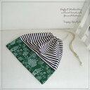【ゆうパケットOK!】入園・入学準備に!ハンドメイドの巾着袋(グリーンフォレスト)*sta60-pouch