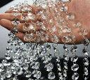 AFKshop 八角珠ビーズカーテン クリスタル 珠のれん 装飾 DIY 10本