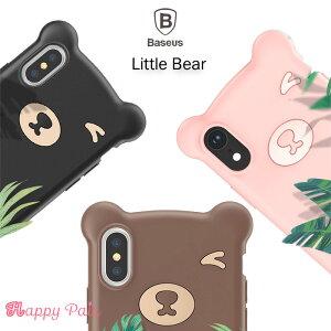 iphonexr ケース シリコンケース クマ柄 熊 iphone xs