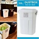 ごみ箱 おしゃれ ダストボックス 屋内・屋外 キッチン ゴミ箱 30L ホワイト