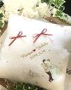 ショッピングクッション *White Luxury*リングピロークッション☆刺繍☆シンデレラ 完成品OR手作りキット