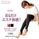 【送料無料】 桜香流 セルスルーエステ レッグシェイプ 2枚組|日本製 着るだけ シェイプア