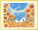 絵画 黄色 壁掛け ひまわり 「陽の向く方へ」■LLサイズ■...