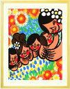 アジアン 絵画 インテリア 「笑顔の花が咲きますように」■L...