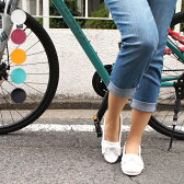 【レザー×モカシン】デッキシューズ ドライビングシューズ 革靴 レディース レザーシューズ フラットシューズ ホワイト ネイビー イエロー ブルー【UNFIT femme】 HAPTIC ハプティック