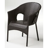 ガーデンチェア 椅子 Chair 手編み高級人工ラタン ウィッカー ガーデンファニチャー 13DN-C