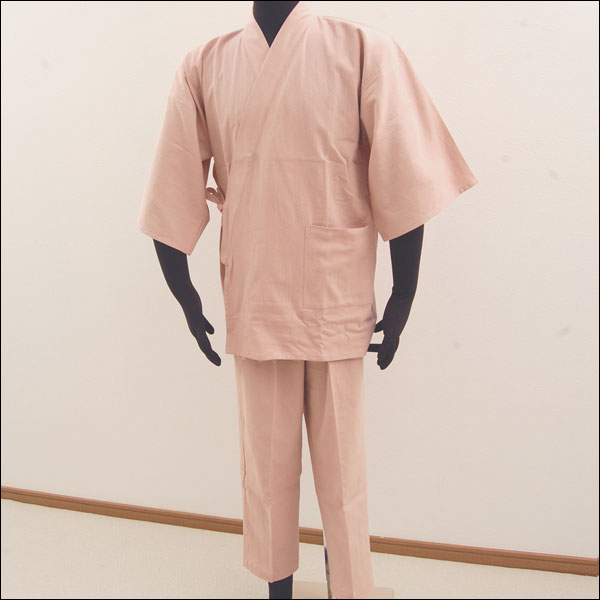 ひんやり寝れる 作務衣 パジャマ 寝間着●