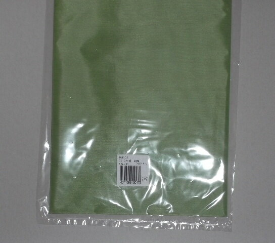 【アートフラワー材料】生地ウスギヌ(固糊)ライトグリーン1Mx92cm