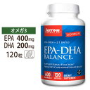 EPA-DHAバランス 120粒《約4ヵ月分》Jarrow formula(ジャローフォーミュラ)フィッシュオイル オメガ3オメガ3 オメガ6 健康 サプリメント 脳トレ【ポイントUP★3/2 18:00-3/11 09:59迄】