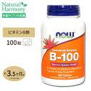 ビタミンB-100 (Bコンプレックス)タイムリリース 100粒 NOW Foods(ナウフーズ) 健康 ビタミンB群 タブレット サプリメント サプリ