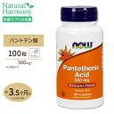 パントテン酸 500mg 100粒 NOW Foods(ナウ...