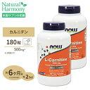 [2個セット]L-カルニチン 500mg 180粒 NOW Foods(ナウフーズ)【ポイントUP2...