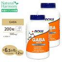 2個セット GABA(ギャバ)500mg 200粒 NOW Foods(ナウフーズ)