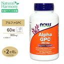アルファ GPC 300mg 60粒 NOW Foods(ナウフーズ)