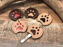 楽天Harry's 楽天市場店レザー肉球キーカバー 鍵 本革 キーケース 犬 猫