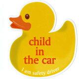 ラバーダックの黄色がかわいい、Child in the carステッカー!【キュート?キッチュ】ラバーダックデザイン?Child in the car ステッカー