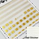 【普通郵便送料無料】ネイルシール hbjy047/ラインレース/ゴールド/ホワイト/爪に貼るだけ!フットネイルにも