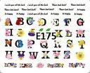 【普通郵便送料無料!】アルファベット//フラワー/花【ネイルアート】【ネイルシール】E175
