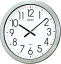 【名入れ 文字入れ無料】SEIKO CLOCK (セイコー クロック) 掛時計/掛け時計 オフィスタイプ クオーツ 防湿・防塵型 金属枠 KH407S